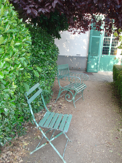 Chairs in the garden of the house of Balzac