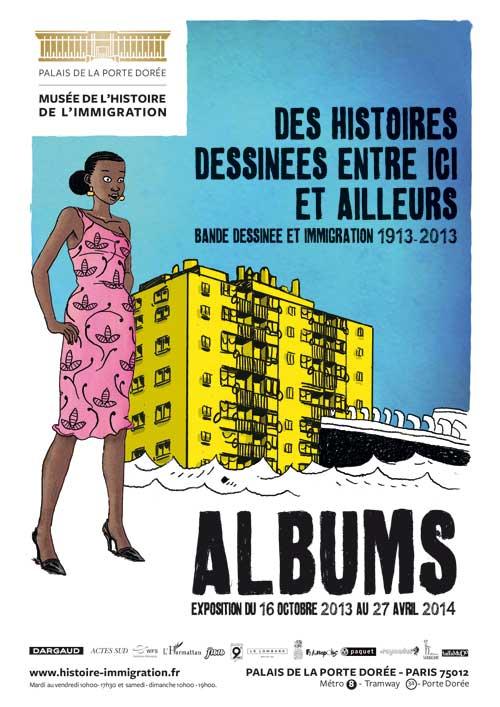 Exposition : Albums – Bande dessinée et immigration de 1913 à 2013