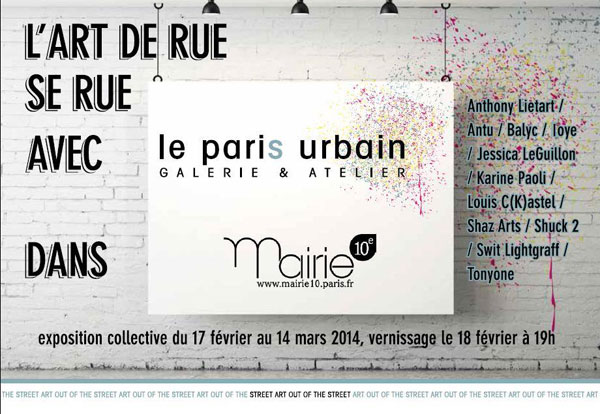 Exhibition: Street Art in the 10th Arrondissement