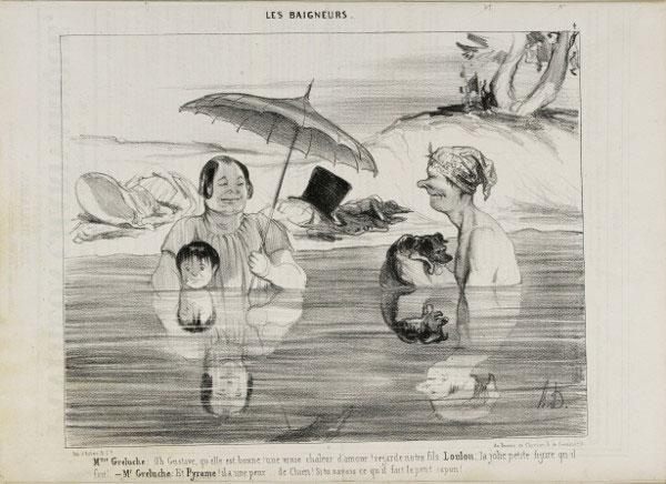 Exposition : Plages à Paris selon Daumier