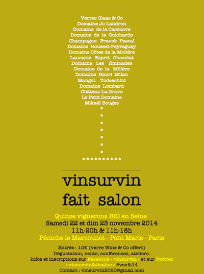 VinSurVin fait salon on the Péniche Le Marcounet