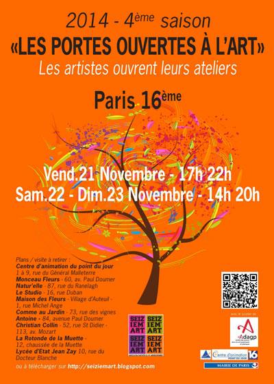 Seizièm'Art : découvrez les ateliers d'artistes du 16ème arrondissement !