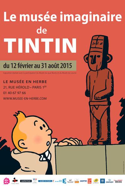 affiche-exposition-le-musee-imaginaire-de-tintin-green-hotels-paris-eiffel-trocadero-gavarni