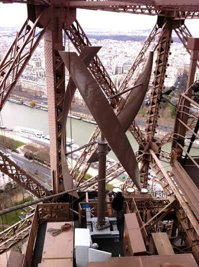 The Eiffel Tower receives two wind turbines!