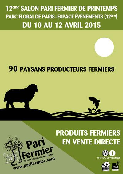 12ème édition du Salon Pari fermier de Printemps !
