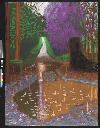 Exhibition: David Hockney, The Arrival of Spring