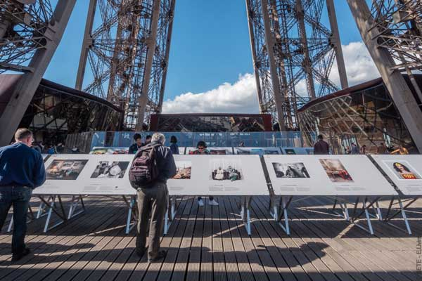 The 5th edition of Photoquai takes place at the Eiffel tower