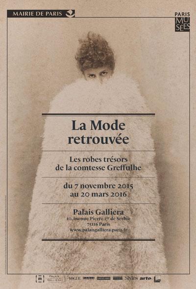 affiche-exposition-la-mode-retrouvee-palais-galliera-green-hotels-paris-eiffel-trocadero-gavarni
