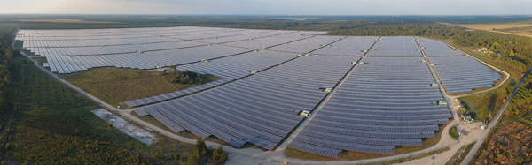 France opens the Europe's greatest solar power plant