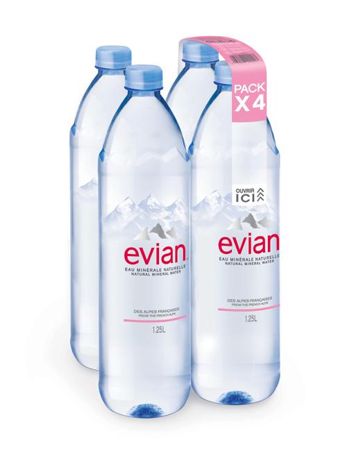 Evian lance un nouveau packaging plus écologique