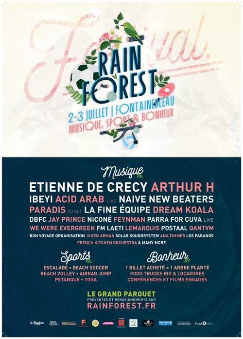 Rainforest : le nouveau festival musical et éco-responsable de l'été