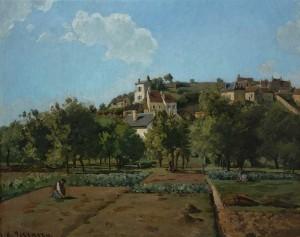 exposition-camille-pissarro-le-jardin-a-maubuisson-pontoise-vers-1867-credit-national-gallery-prague-green-hotels-paris-eiffel-trocadero-gavarni