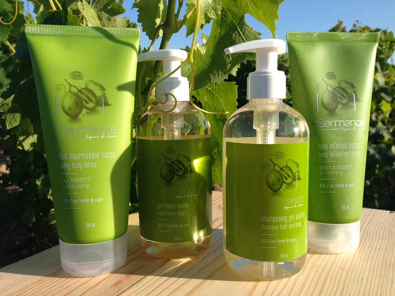 Sarmance: organic cosmetics made of vines