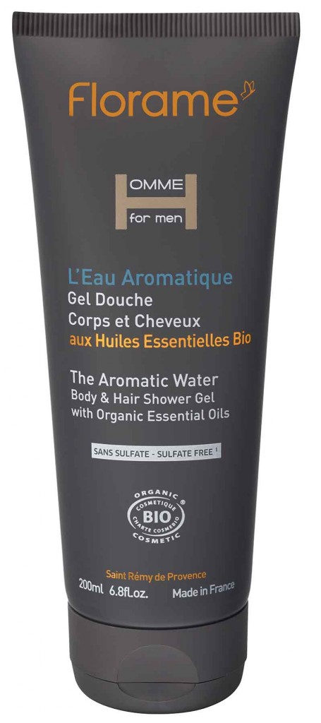 gel-douche-l-eau-aromatique-homme-florame-cosmetiques-bio-made-in-france-green-hotels-paris-eiffel-trocadero-gavarni