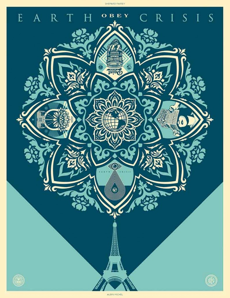 shepard-fairey-earth-crisis-couverture-livre-albin-michel-green-hotels-paris-eiffel-trocadero