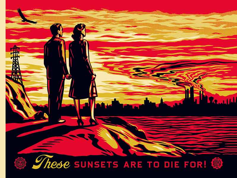 shepard-fairey-earth-crisis-sunsets-to-die-for-p-86-87-albin-michel-green-hotels-paris-eiffel-trocadero-gavarni