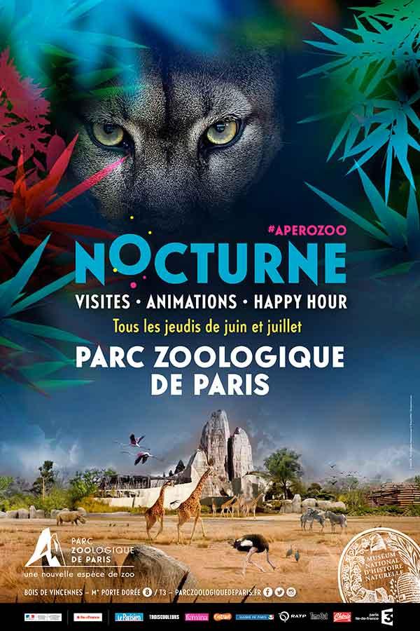 affiche-nocturnes-zoo-de-vincennes-2017-credit-MNHN-FG-Grandin-flamants-roses-pictureswild-shutterstock-com-green-hotels-paris-eiffel-trocadero-gavarni