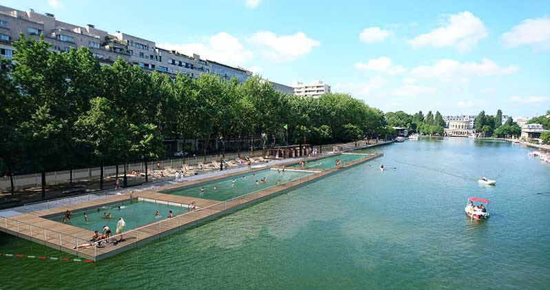Swimming in the bassin de la Villette is now possible!