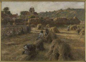 Léon Augustin Lhermitte, La moisson. Les lieuses de gerbes.