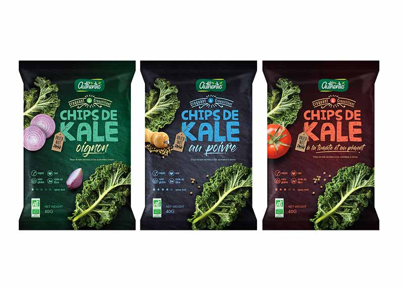 Authentic: organic juices, vegan and gluten-free crisps