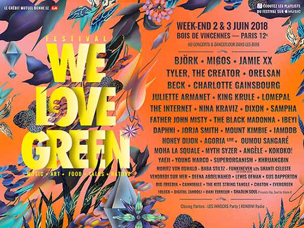 We Love Green 2018: Orelsan and Charlotte Gainsbourg, the festival's top headliners
