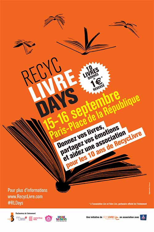 The 3rd edition of RecycLivreDays at the place de la République