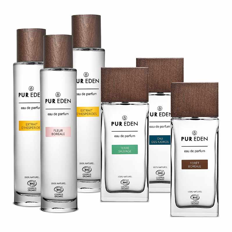 Pur Eden: organic perfumes for her and him