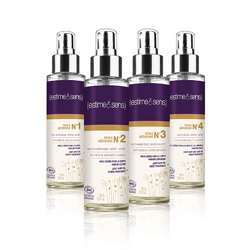 Estime&Sens launches 4 new organic body oils