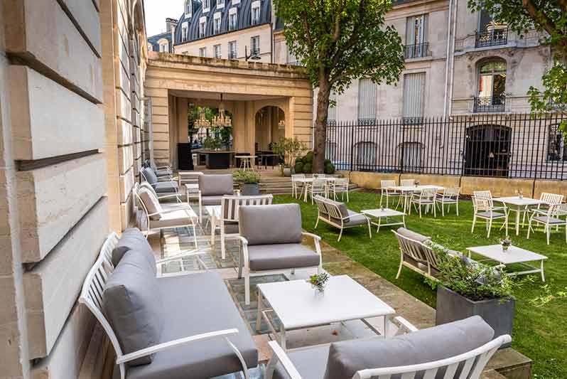 Jardin BBar: Cristal Room Baccarat summer terrace