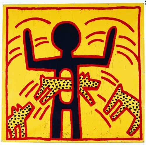 Keith Haring hypnotizes the MAM (Museum of Modern Art)