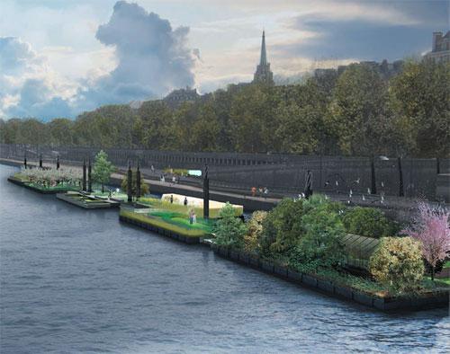 Le jardin flottant sur les Berges de Seine, c'est pour bientôt!