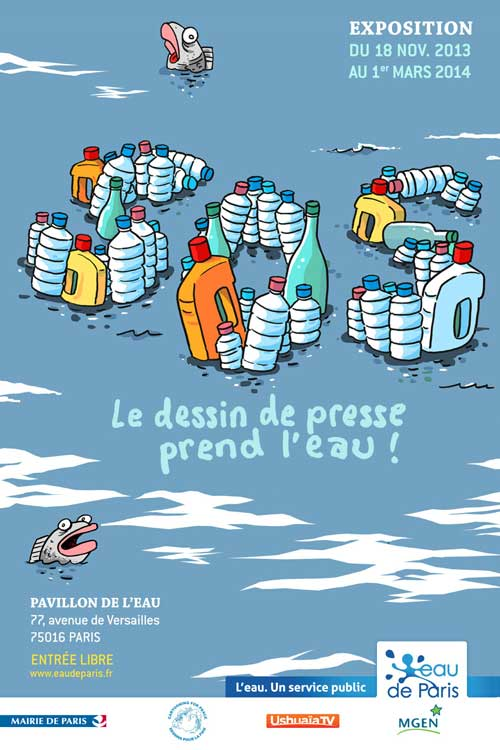 Exhibition: Press cartoons take on water!