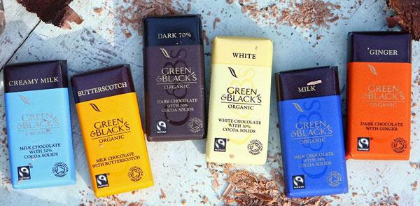 Fondez de plaisir pour les chocolats Green and Black's Organic !