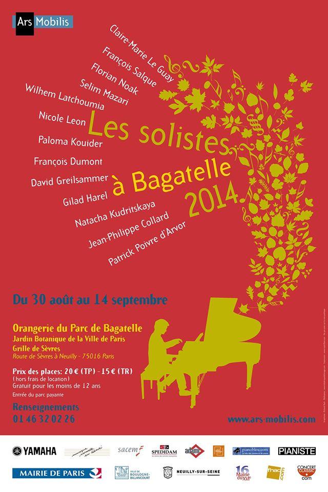 Festival des Solistes à Bagatelle 2014