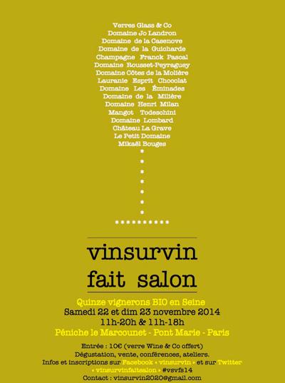 VinSurVin fait salon on the Péniche Le Marcounet