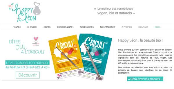 Happy Léon: online vegan beauty products shop