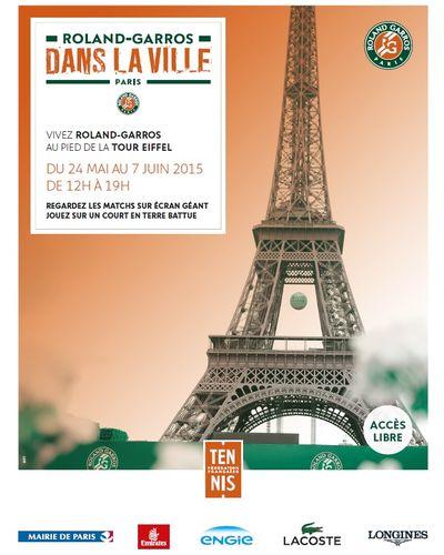 Roland-Garros dans la Ville au pied de la Tour Eiffel !