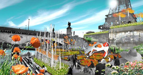 Petite Fleur Folies, an ephemeral garden at the quai Branly