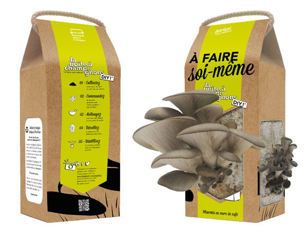 La Boîte à Champignons: Oyster mushrooms with coffee grounds