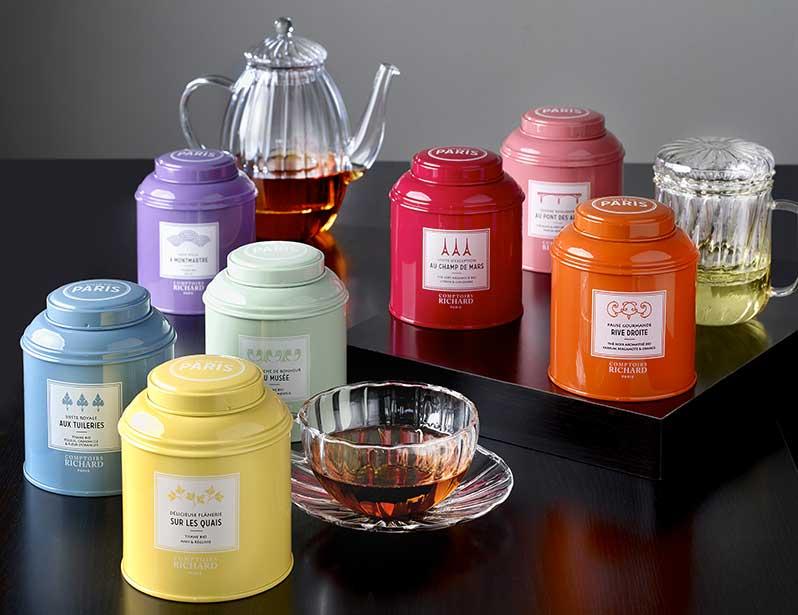 Organic teas and herbal teas by Comptoirs Richard for the Mairie de Paris