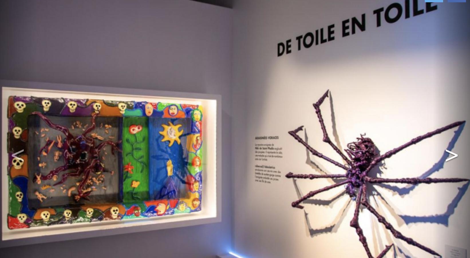 ARAIGNÉES, LUCIOLES ET PAPILLONS, PHOTOS DE L'EXPO ARTISTICO-SCIENTIFIQUE AU MUSÉE EN HERBE