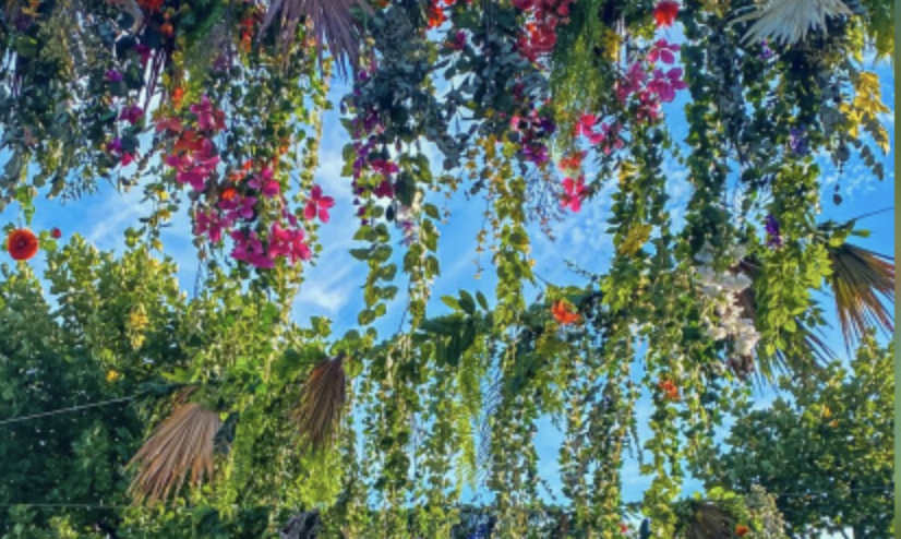 FLOWERS IN THE SKY OF BERCY VILLAGE THIS SUMMER 2020